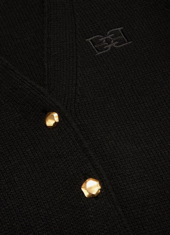 BLACK MIX WOOL Jackets - Bally