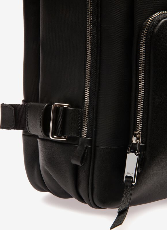 BLACK MIX COTTON/SYNT Backpacks - Bally