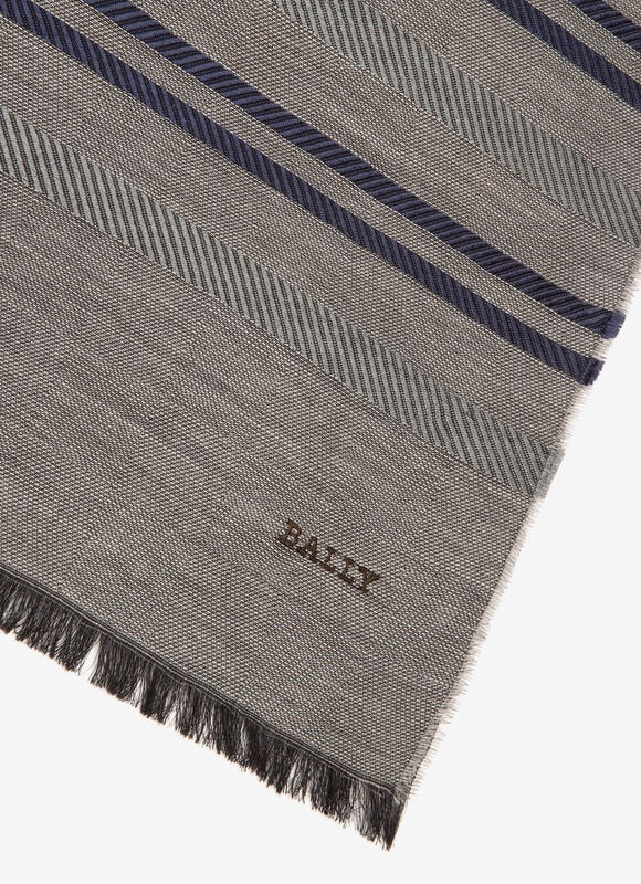 GREY MIX SILK/WOOL Scarves - Bally