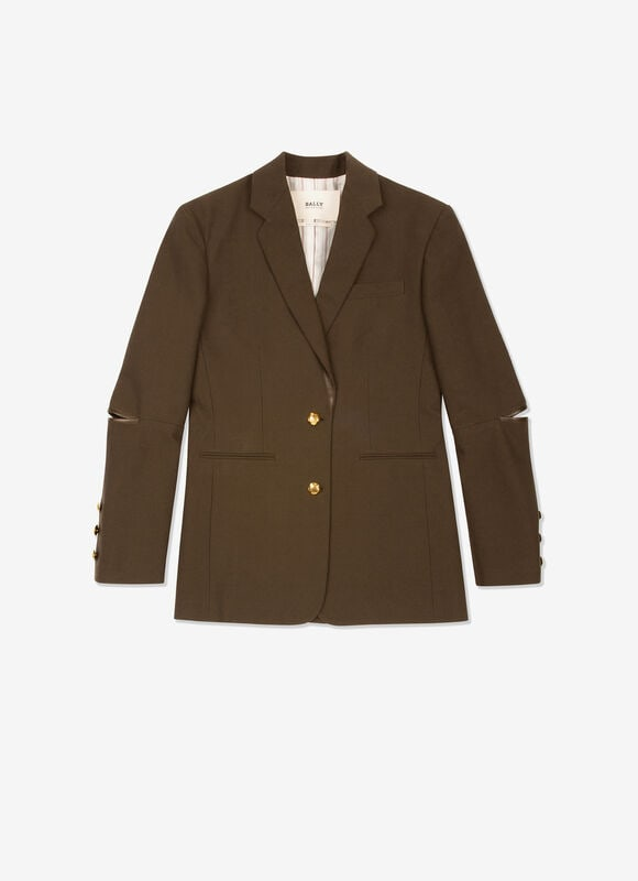 GREEN MIX COTTON/WOOL Outerwear - Bally
