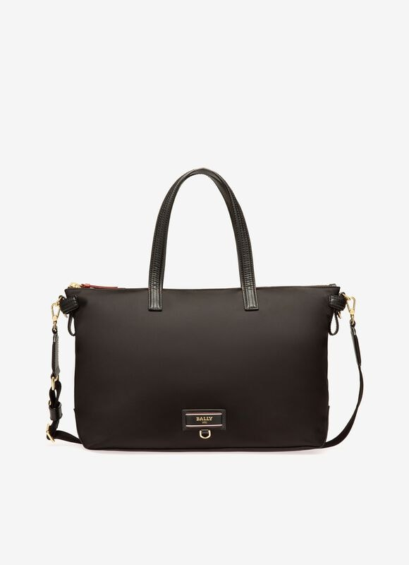 BLACK NYLON Tote Bags - Bally