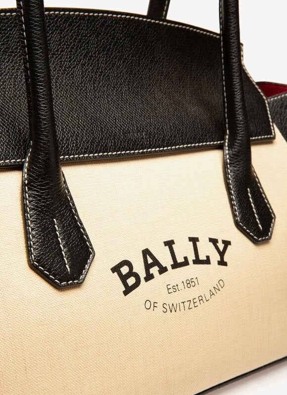 BROWN FABRIC Top Handle Bags - Bally