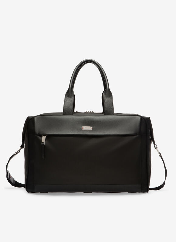 BLACK MIX COTTON/SYNT Travel Bags - Bally