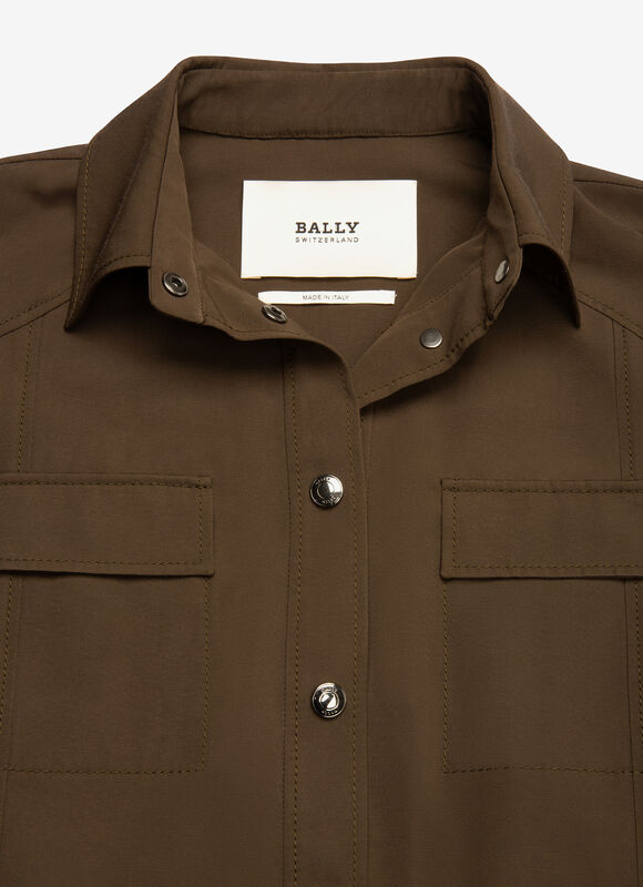 GREEN MIX POLY./COTTON Jackets - Bally